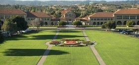 View of the front of Stanford Campus