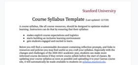 syllabus document